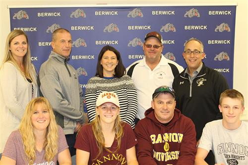Kylie Levan signed a national letter of intent to play for the Gannon University
