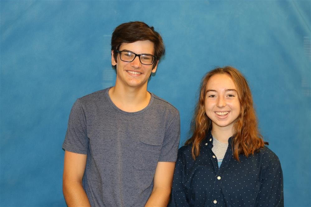 September Students of the Month for September are Hannah Gizenski & Kaleb Gearinger