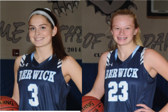 Picture of basketball standouts Renny Murphy and Katie Starr